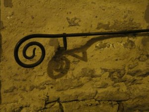 I love the spiral curves of the handrails in Tallinn.